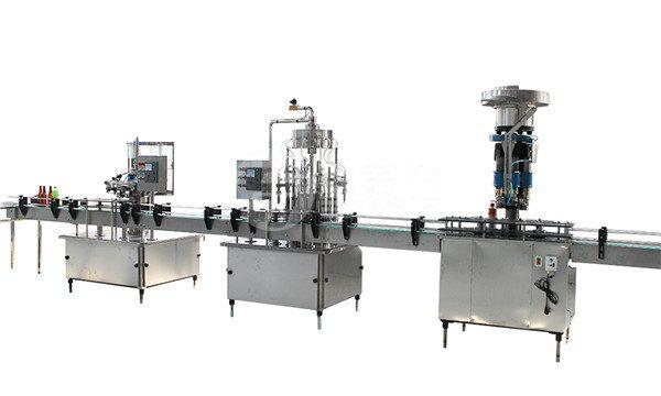 Máquina de llenado y etiquetado de botellas de vidrio de 1 litro