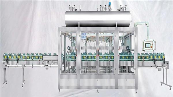 Máquina de llenado rotativa de pesaje para aceites lubricantes