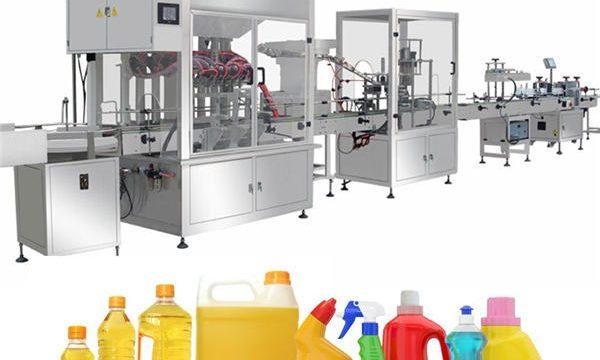 Máquina de llenado de lejía por gravedad, línea de producción de llenado de lejía