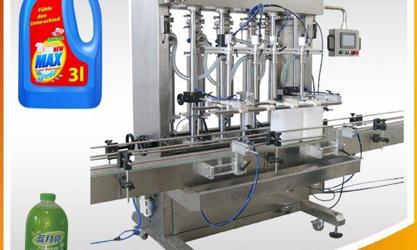 Máquina de llenado de líquidos tipo pistón completamente automática de doble cabezal