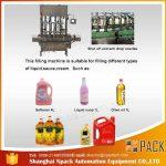 Máquina automática de llenado de aceite de cocina comestible de 2, 4, 6, 8, 10 y 12 cabezas