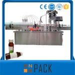 Máquina automática de llenado de líquidos de botella rotativa con tapa