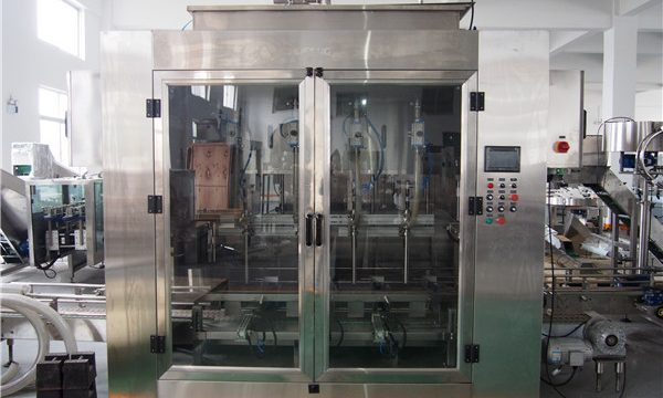 Máquina automática de llenado de aceite de alimentos y máquina de embalaje de aceite de oliva