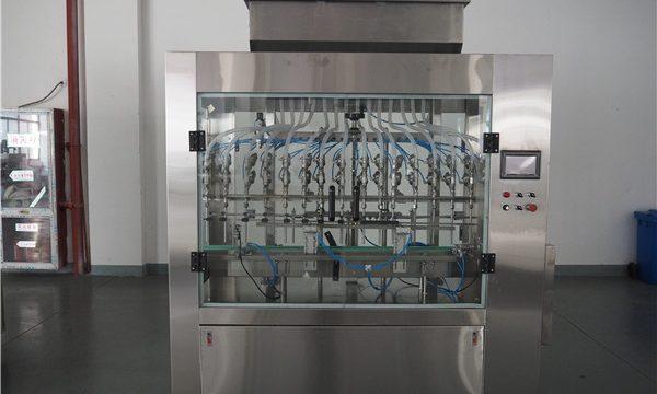 Máquina automática de llenado de líquidos a presión atmosférica de 12 cabezas