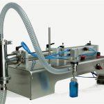 Máquina de llenado de aceite lubricante de doble cabezal de control neumático