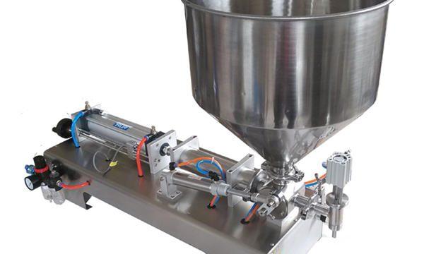 Máquina de llenado de miel de tarro de vidrio de pistón semiautomático
