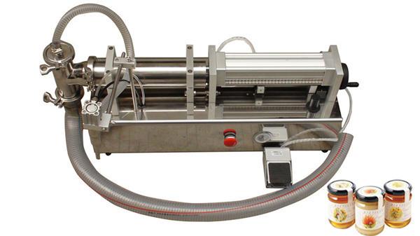 Máquina de llenado de miel líquida semi automática de alta viscosidad