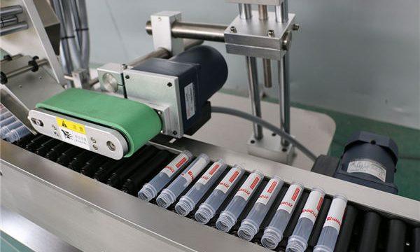 Máquina automática de etiquetado de viales de inyección horizontal
