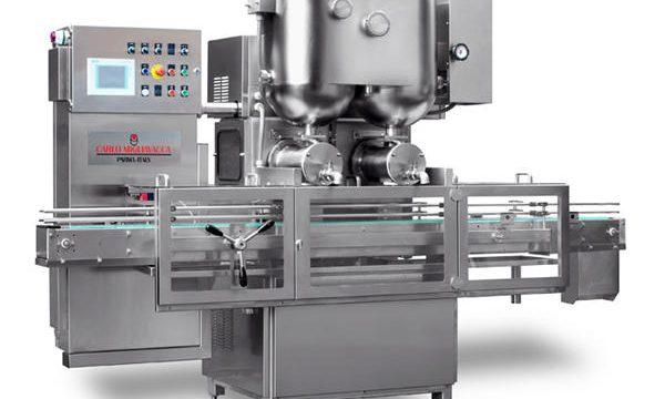 Máquina de llenado de mermelada de frutas semiautomática de doble cabezal