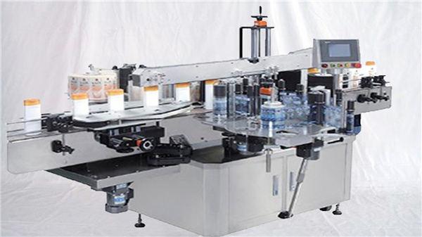 Botella de perfume de vidrio Máquina de etiquetado de superficie superior