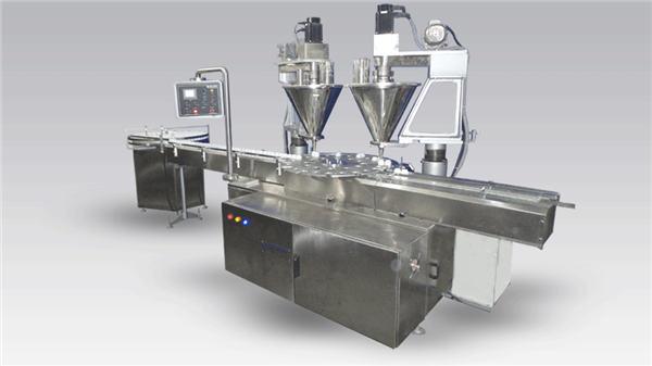 Polvo de máquina de llenado de café completamente automático de 6 cabezales