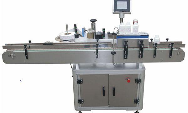 Lados dobles automáticos Llabeling Mmachine para la botella de cristal plástica del animal doméstico