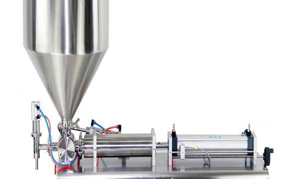 Máquina de llenado de crema de tarro de pistón semiautomática