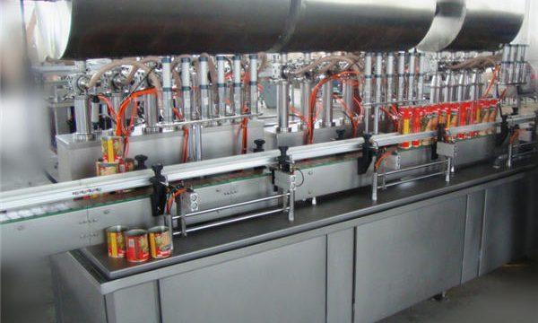 Máquina de llenado de pasta de chile completamente automática de doble cabezal